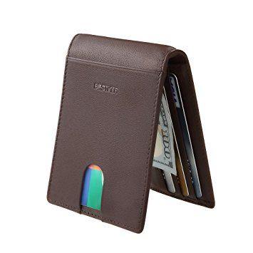 Clip de Dinero Cuero Cartera  Slim Billetero Tarjetero Para Hombre De Crédito Ver Chollo http://amzn.to/2BtWg1P    CARTERA MINIMALISTA PARA TARJETAS: Cartera con acceso directo para tus tarjetas más usadas 8 ranuras y una billetera para guardar tu dinero en el interior que también sirve para guardar tus tarjetas carnets billetes o recibos sin volumen. Tamaño 453303 pulgadas(1148407cm)  CARTERA PARA HOMBRE DE PIEL: nuestra billetera esta hecha de autentico cuero italiano de la mejor calidad…