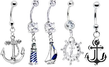 nautical belly button rings #piercing #bodymodification #navel