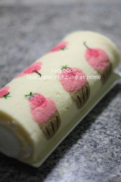 paint roll cake::: no recipe