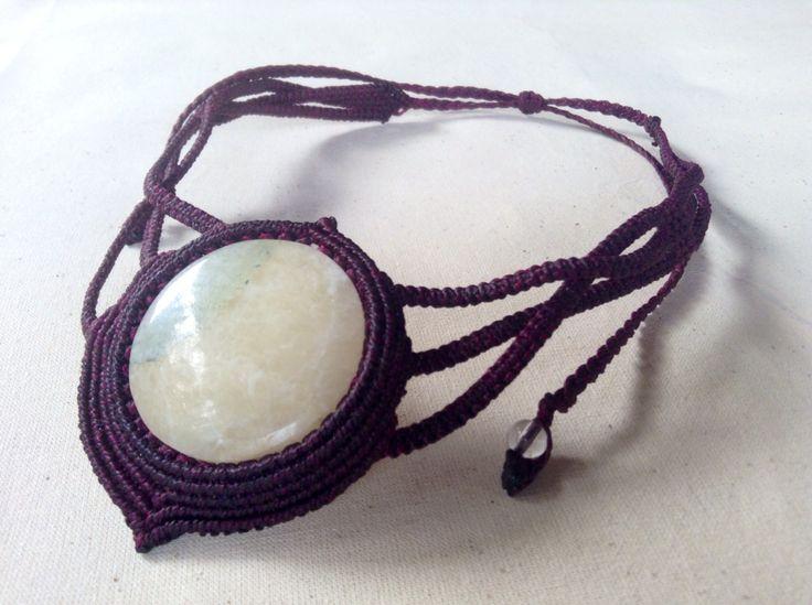 "Collar Ónix blanco. ""Luna Llena"" Necklace ""Full Moon"""