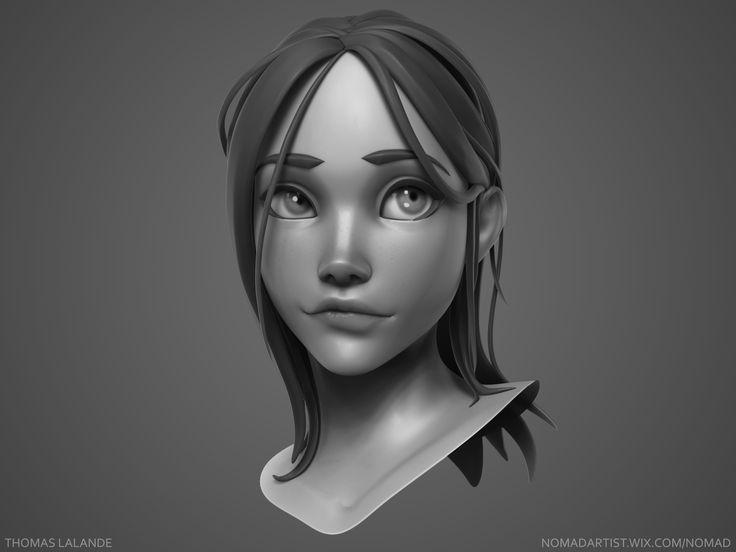ArtStation - Girl sculpt, Thomas Lalande