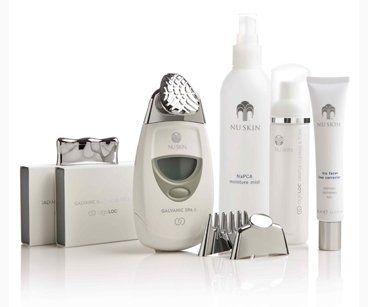 Nu Skin reDESIGN Galvanic Face Spa Package (White) by Nu Skin. $550.00. reDESIGN Face Spa Package (White) Contents: 1 ageLOC Face Spa 2 ageLOC Galvanic Pre-Treatment/Treatment Gels 1 NaPCA Mist 1 Tru Face Line Corrector 1 ageLOC Cleanse/Tone Catalog Galvanic DVD reDESIGN in 90 Face Spa Flyer Quick Start Guide Galvanic Spa Brochure