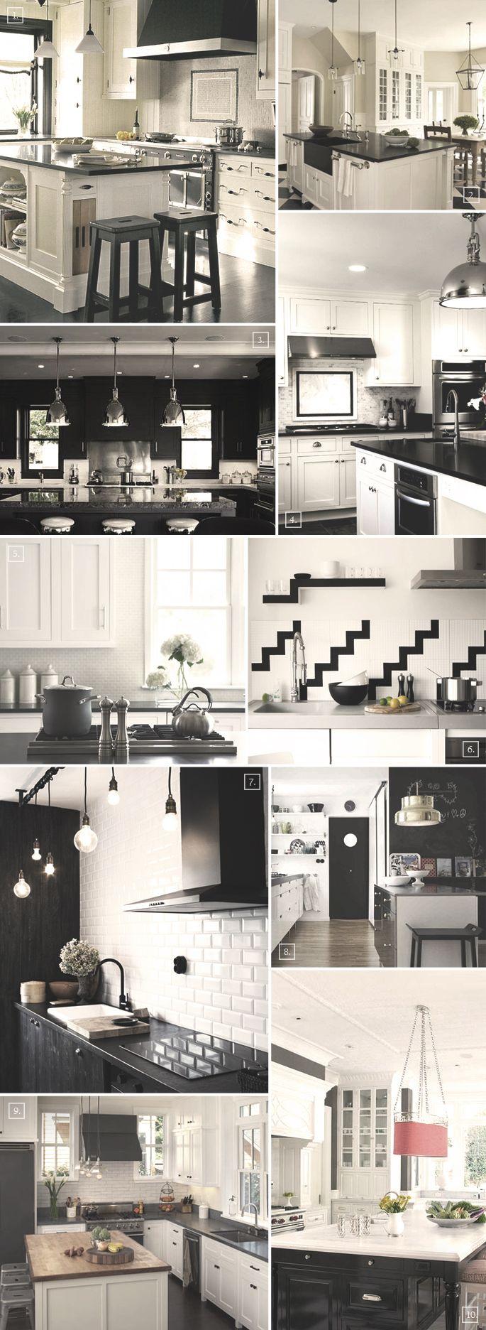 Black and white kitchen styles