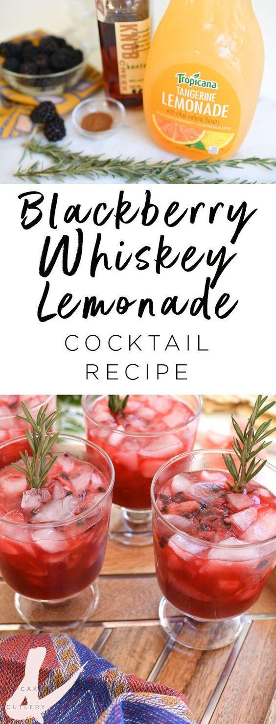 Looking for easy whiskey drinks? This Blackberry Lemonade cocktail is the best!