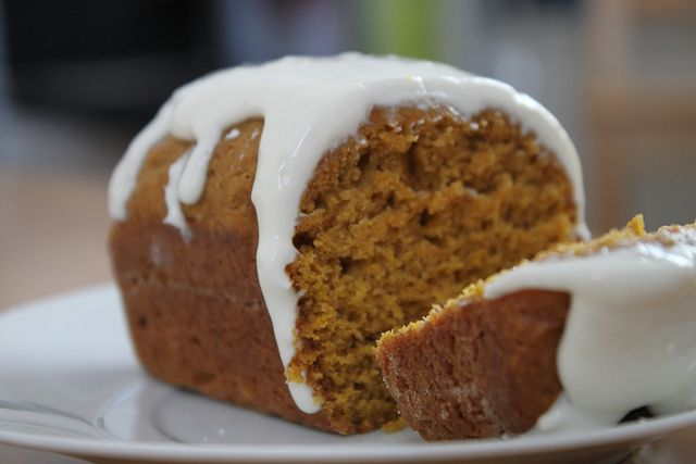 Mini loaves - Spiced Pumpkin Bread with cream cheese glaze
