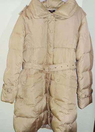Compra mi artículo en #vinted http://www.vinted.es/ropa-de-mujer/plumas/106802-abrigo-plumas-color-beige-con-cinturon