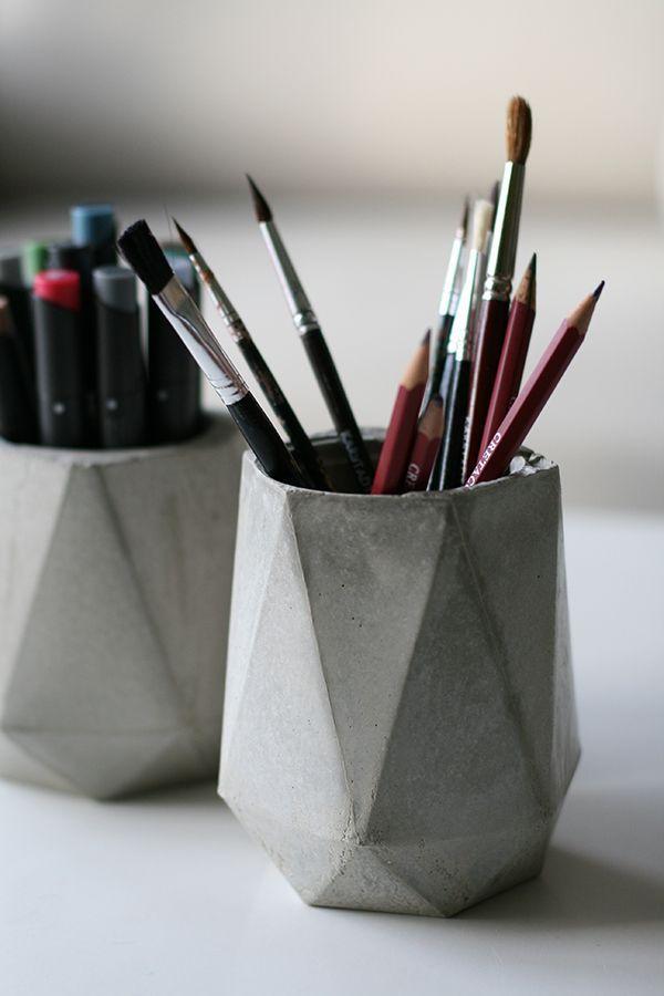die besten 25 beton basteln ideen auf pinterest beton. Black Bedroom Furniture Sets. Home Design Ideas