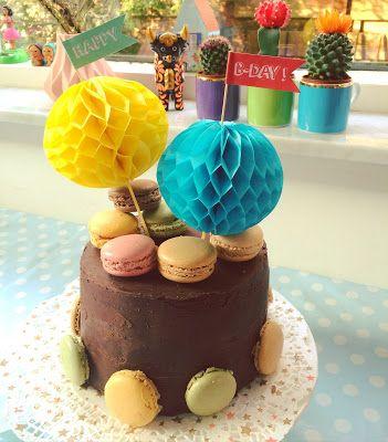 Fijne Pret: Choco Macarons cake