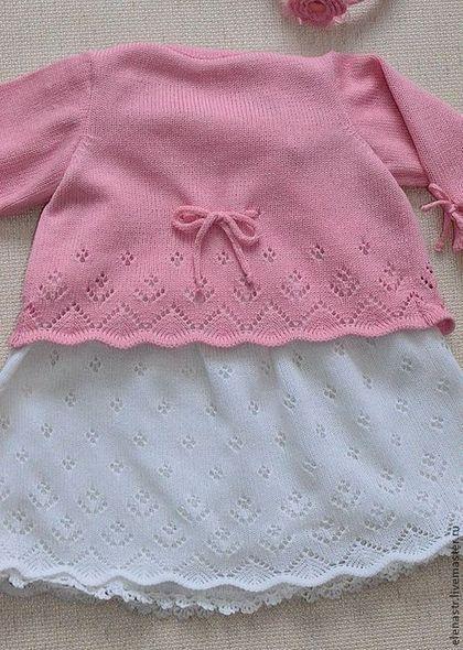 Одежда для девочек, ручной работы. Для маленькой девочки. Елена Горшенёва (вязание на заказ). Ярмарка Мастеров. Для девочки