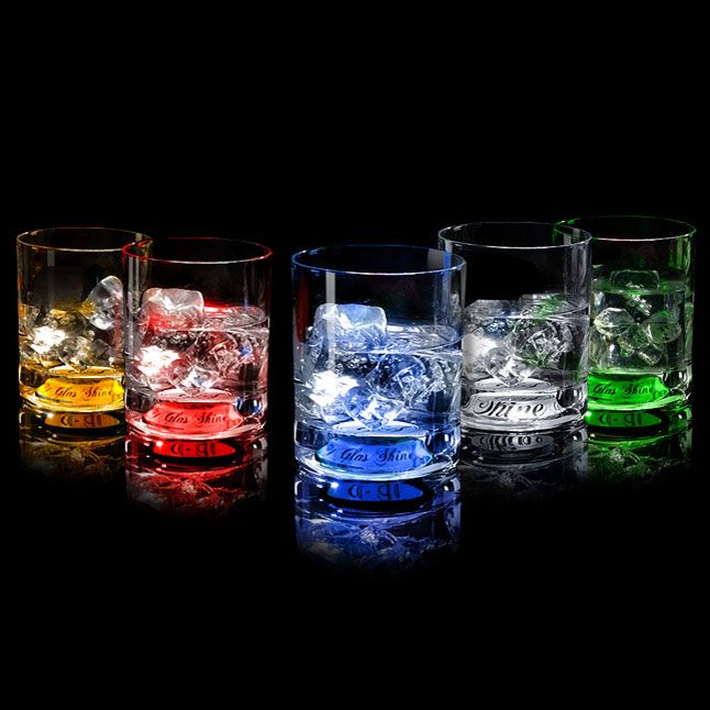 Набор из 5 бокалов для виски, сияющих от прикосновения руки - фото