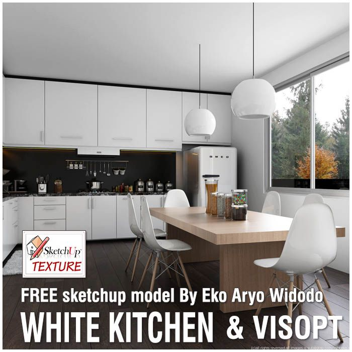 Very Great FREE Model VISOPT Moderne Minimalist White Kitchen Shared In MODEL Galley