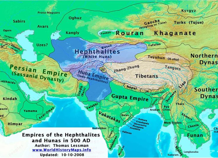 The Gupta and Huna Empire – 400 - 500 AD
