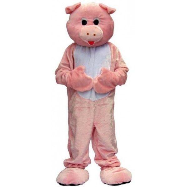 Deguisement Mascotte de cochon rose. Un modèle facile à enfiler. Idéal pour les événements professionnels et privés.