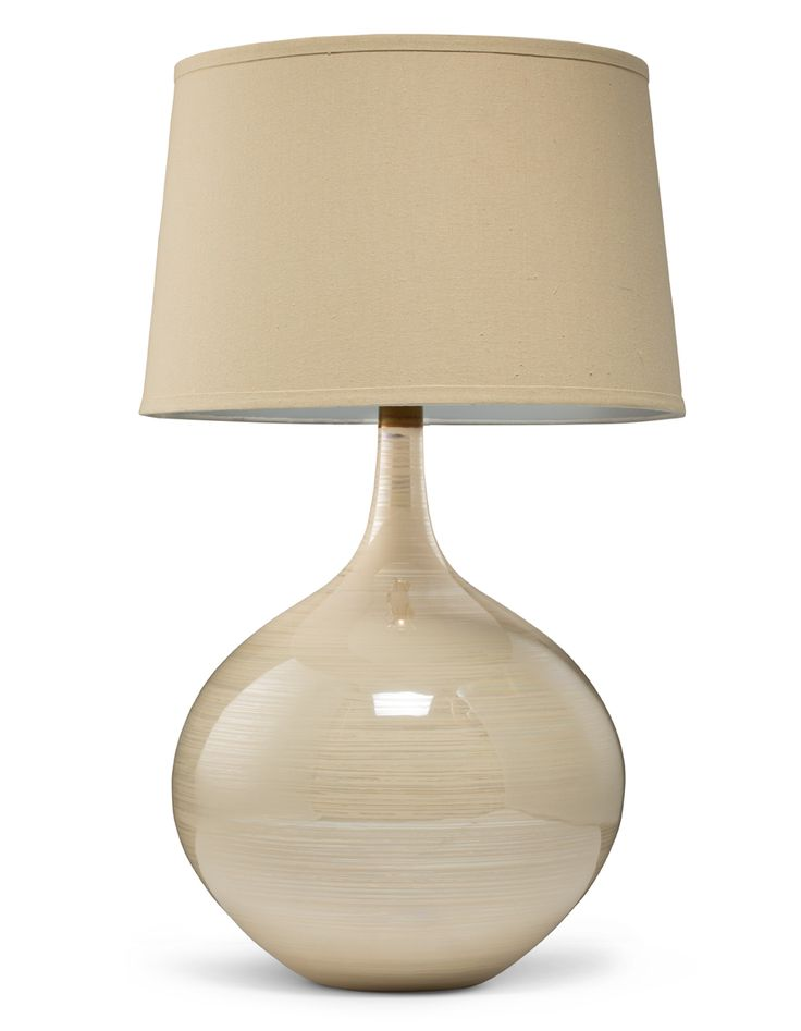 Francis Table Lamp: Beige Table lamps offer the ultimate in the form-and-function department. They bring light to any area: in the living room on a side table, in the master on a bedside table. And the variety of materials and styles is endless, from ceramic to metal to glass.