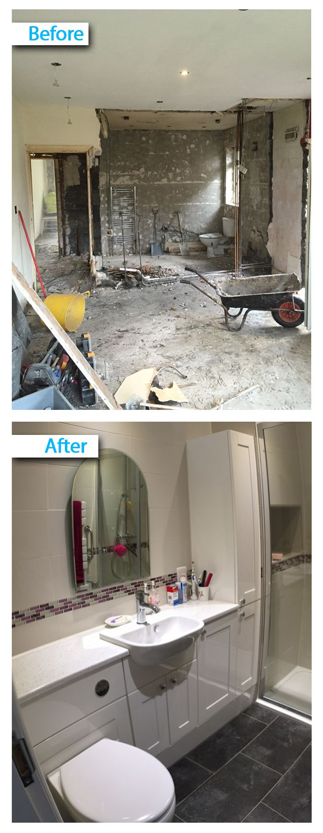 Best UK Bathroom Guru Projects Before After Images Images By - Full bathroom installation