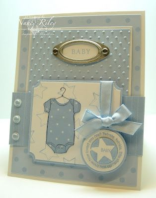 by Nancy Riley, iSTAMP: Baby Blue, Challenges Baby, Baby Boys Cards, Cards Ideas, Baby Cards, Cards Baby, Sketch Challenges, Nancy Riley, Baby Shower Cards