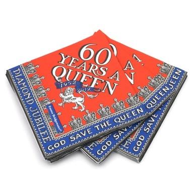 jubilee: Paper Napkins, Queen Jubil, Jubil Parties, Celebrity Qe2, Jubilee Napkins, Anniversaries, Jubil Napkins, Jubil Products, Diamonds Jubilee