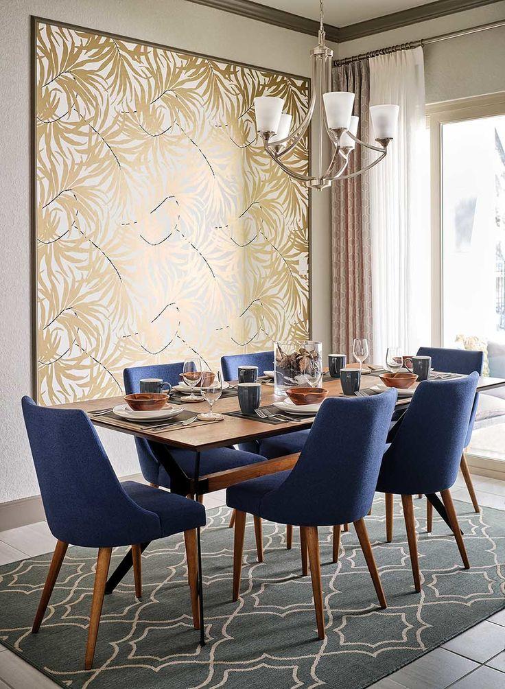York Bali Leaves Wallpaper Panels In, Dining Room Tables San Antonio Tx