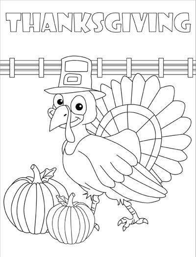 55 Best Thanksgiving Coloring Pages Images On Pinterest