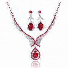 SET bijuterii nunta si logodna placate cu cristale austriece si argint 925