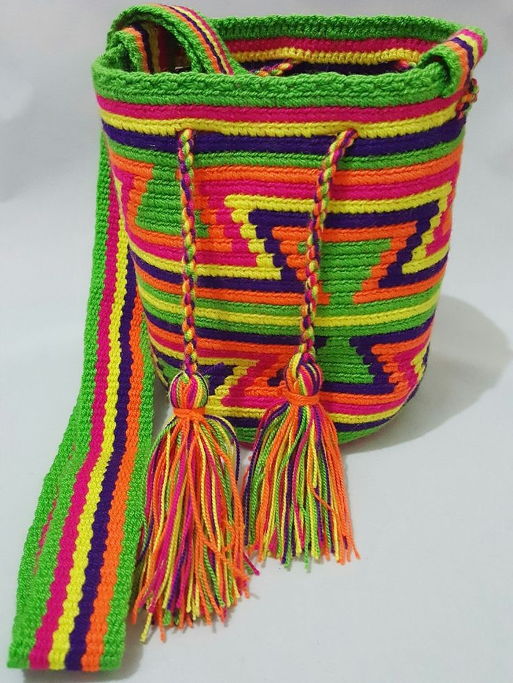 Wayuu Bag-Pattern Green - Alynshop