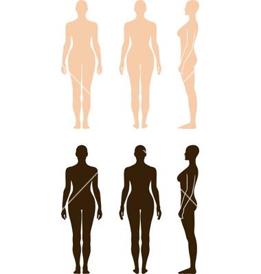Naked standing woman vector 685218 - by arlatis on VectorStock®