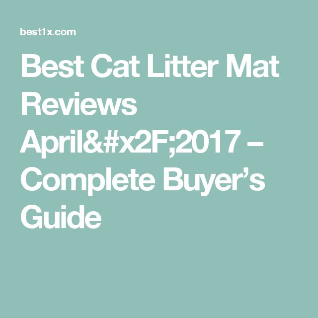 Best Cat Litter Mat Reviews April/2017 – Complete Buyer's Guide