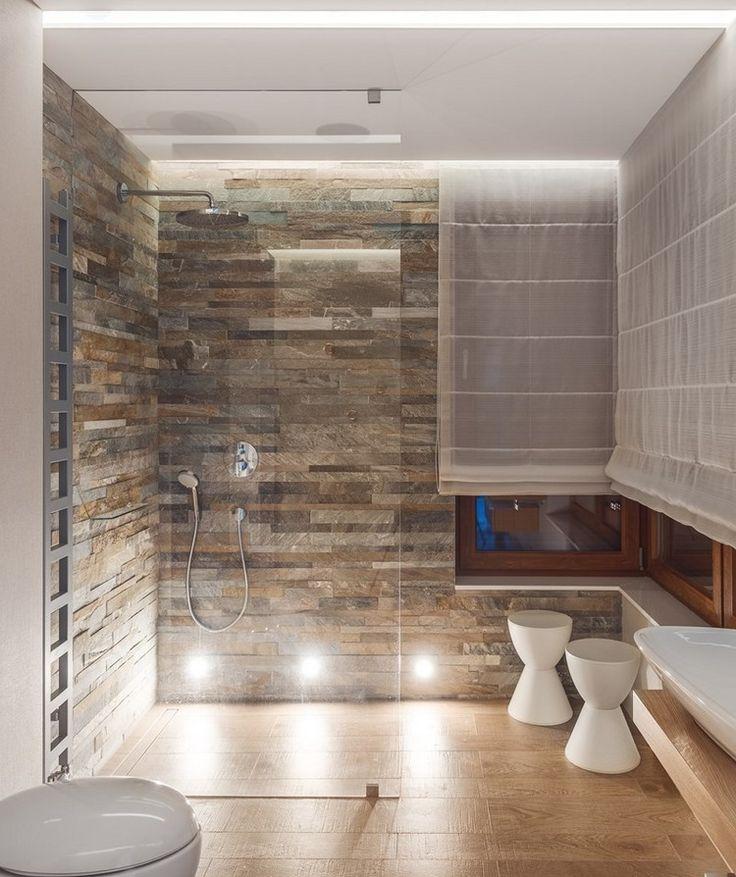 Ground level shower in 55 attractive modern bathrooms – Haus