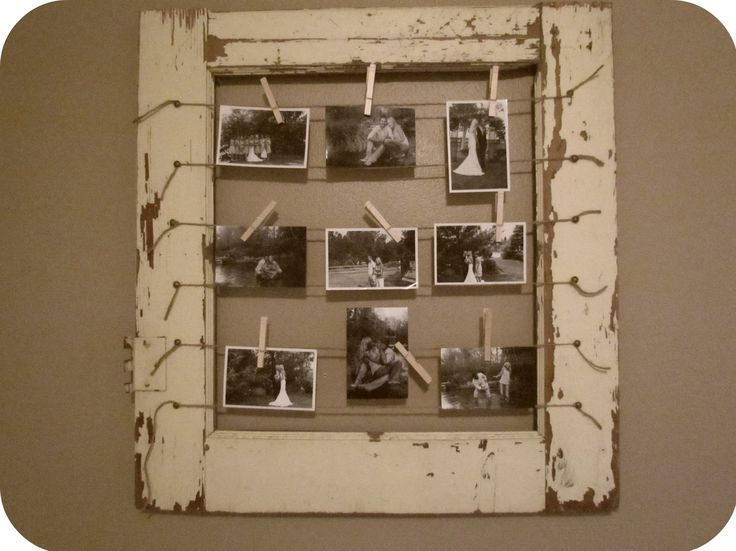 Rustic home decor diy picture frames at http diyjoy com craft - Pinterest Projects Rustic Window Frames Diy Rustic