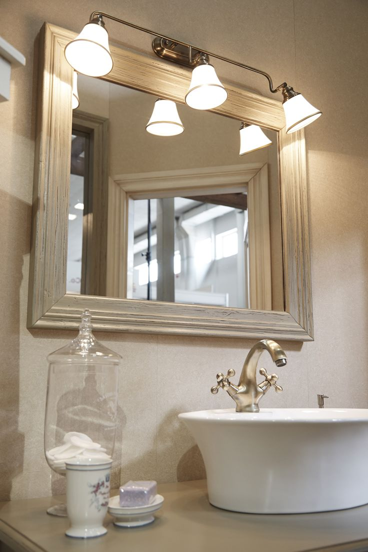 Mirror in the bathroom in the style of Provence