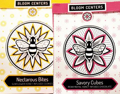 """Check out this @Behance project: """"Bloom Centers Honey Kit"""" https://www.behance.net/gallery/27293595/Bloom-Centers-Honey-Kit"""
