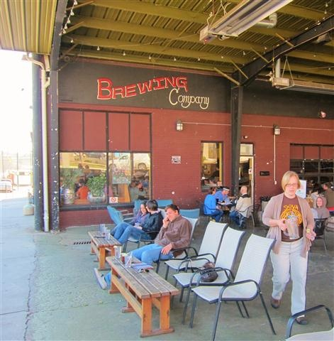 One of our favorite Asheville Breweries - Asheville Brewing and Pizza Company on Coxe Ave