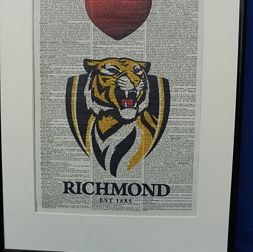 Richmond AFL Football Team Wall Art Print by DecorisDesigns