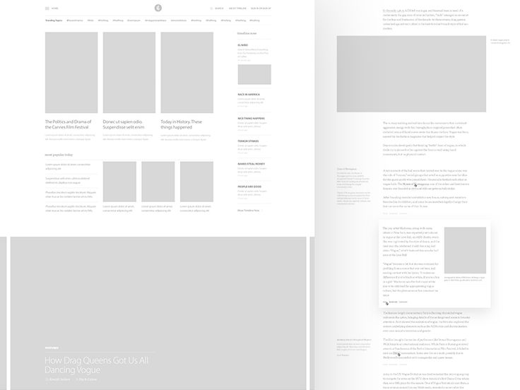Timeline : Wireframes by UENO.