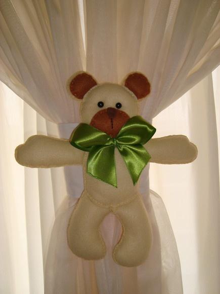 Prendedor de cortina de ursinho