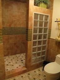 open walk in showers - Google Search