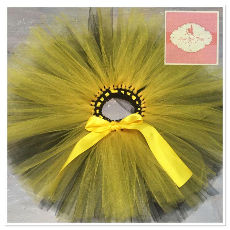 Black and yellow short tutu skirt