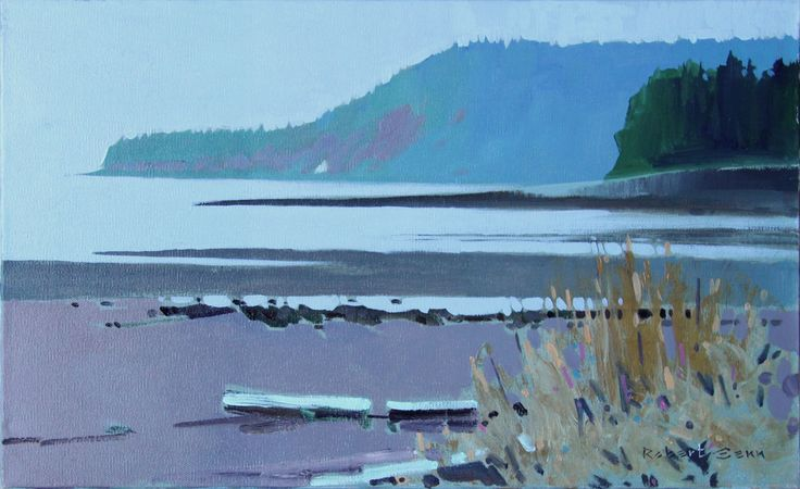 Robert Genn, 'On the Bay of Fundy' at Mayberry Fine Art. -- positive and negative painting of grasses