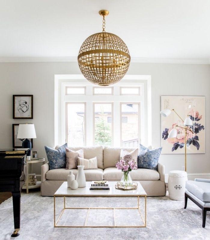 1001 conseils et id es pour am nager un salon blanc et for Salon gris et beige