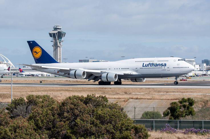 Lufthansa 747-8 Intercontinental at LAX on June 10, 2017.