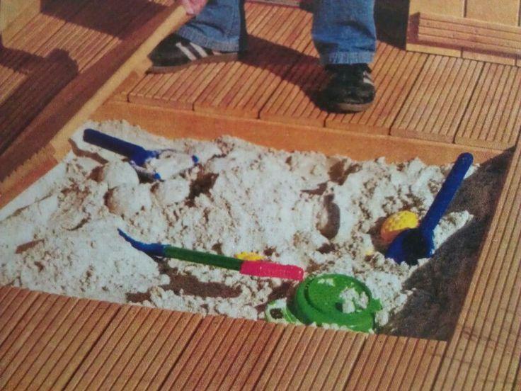 sandkasten im terrassenboden versenkt garten pinterest. Black Bedroom Furniture Sets. Home Design Ideas
