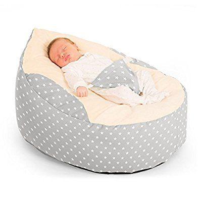 Rucomfy Luxury Cuddle Soft Stars Gaga Baby Bean Bag Platinum Amazonco