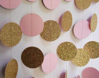 Gold Glitter lila und Lavendel Kreis Garland von ThePartyHaven