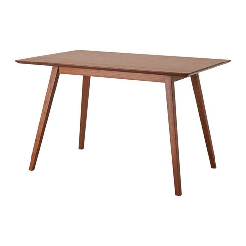 IKEA FANOM Dining table Bamboo 120x80x74 cm Table top made of the very strong material bamboo.