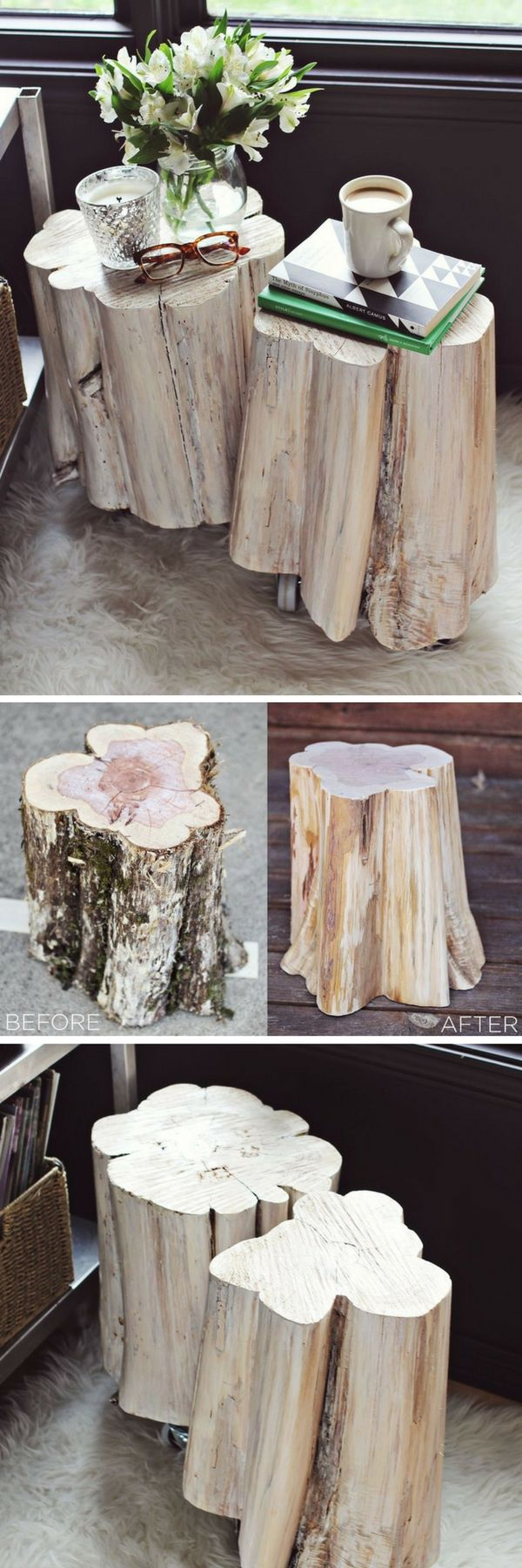 Diy tree stump table - 16 Inspiring Diy Tree Stump Projects That You Can Make Too