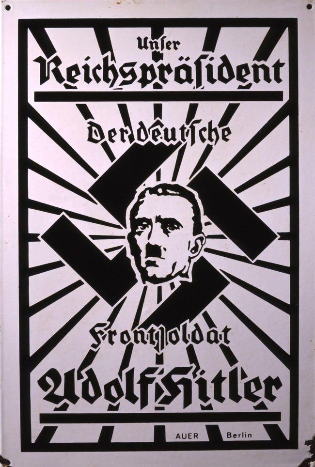 """""""Our Reichspräsident. The  is listed (or ranked) 23 on the list These Disturbing Pieces of Nazi Propaganda Show How Hitler Manipulated The Media"""