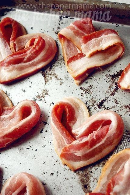 400 degrees Fahrenheit for 18 minutes or so. cute for valentines day breakfast