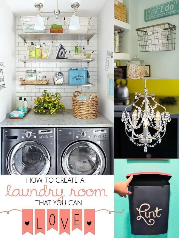 Great tips on how to fall in love with our laundry room! @Remodelaholic.com #spon #laundry #organize