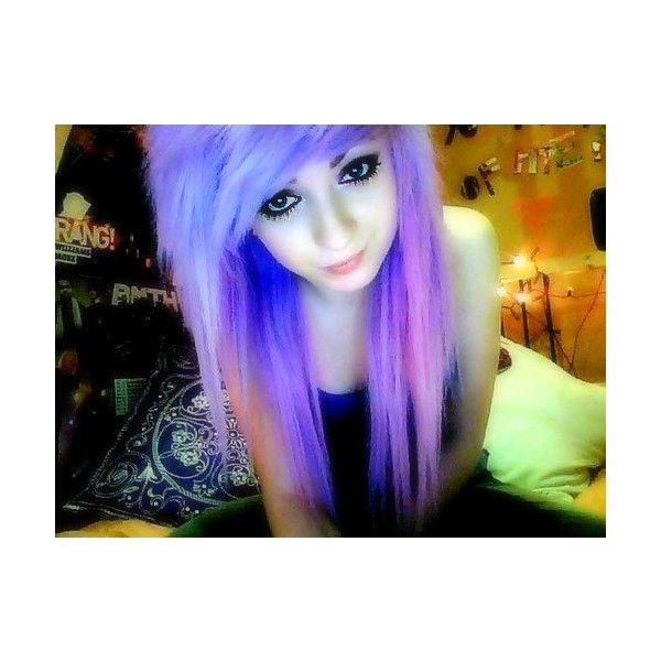 scene hair | Tumblr found on Polyvore