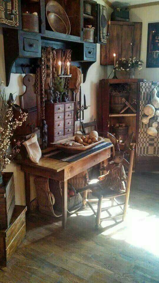 Primitive Country Living Room Decorating Ideas: 766 Best Images About Primitive/Colonial Rooms♥ On